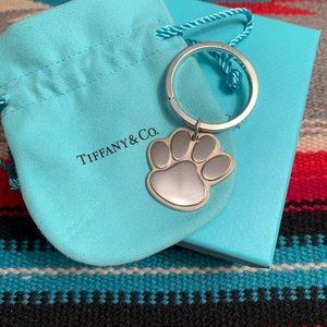 Tiffany & Co. Paw Print Key Ring Charm
